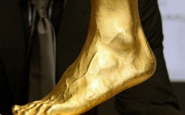 el pie de Messi